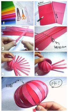 Bola de tiras de papel