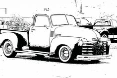 Bring these free printable coloring sheets of vintage cars to your next family gathering and start a great conversation!  These original coloring sheets are created from photographs of old classic automobiles exhibited at a recent Christmas parade in Oklahoma.