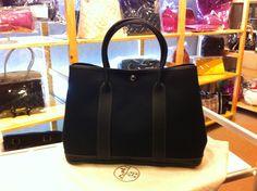 Hermès-2014-spring-garden-tote-black-sale-free-shipping-shopping-bag-shoulder-bag