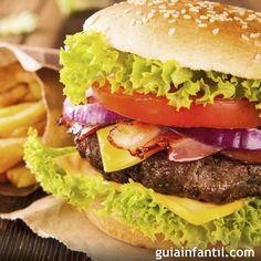 Hamburguesa americana casera, con sabor auténtico