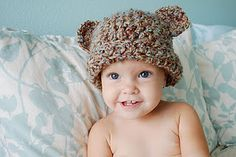 Great blog with lots of free patterns for baby/kids beanies...super cute too!
