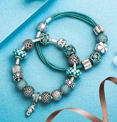 #Pandora #charms  #teal