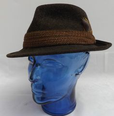 Vintage Dunn & Co Gentleman s Felt Trilby In Chocolate Brown Size S  6 3/4  54cm