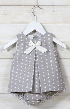Positano Marfil Www.Es B - Diy Crafts Baby Girl Frocks, Baby Boy Dress, Kids Frocks, Little Girl Dresses, Toddler Dress, Dress Girl, Toddler Girls, Baby Girls, Baby Dress Patterns