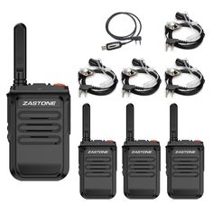Zastone Two-Way Radios with Earpiece 16 Channel UHF Rechargeable Long Range Walkie Talikes Ham Radio, Walkie Talkie, Radios, Channel, Range, Ranges