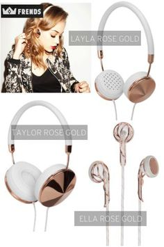 Friday Favorites: Frends Rose Gold Headphones by Ashley Lettich : Lucky Community