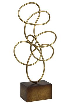 Features:  -Finish: Antique gold .  -Material: Metal .  -Freeform collection.  Product Type: -Sculpture.  Style: -Contemporary.  Subject: -Abstract and shapes.  Finish: -Antique gold.  Primary Materia