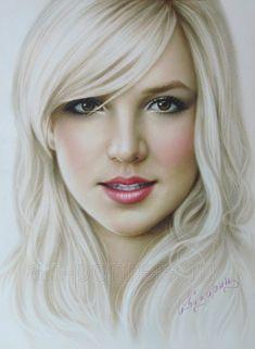 Portrait Britney Spears by Drawing-Portraits.deviantart.com on @deviantART