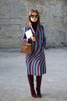 The Anatomy of a Cool Coat, as Demonstrated by Miroslava Duma via @PureWow