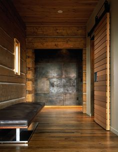 The client, recently relocated from Chicago, wanted a very simple and traditional log cabin home on an open site encircled by a pond and the New Fork River. Through the design process, the log cabin concept evolved, resulting in a modern reinterpretation of an historic precedent. The 3,700-square-foot residence is low-slung, keeping a modest profile [ Read More ]