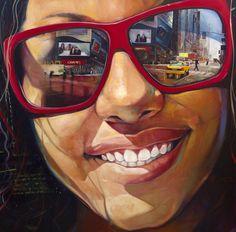 Portrait ~ by Yunior Hurtado, oil painting Pintura Graffiti, Art Tumblr, Reflection Art, Oil Portrait, Painting Portraits, Oil Paintings, Hyperrealism Paintings, Painting Words, Painting Flowers