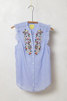 Threadbloom Blouse by Anthropologie
