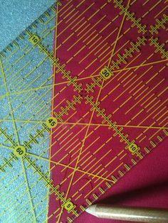 Comment utiliser une règle de découpe pour patchwork? (ici de marque Omnigrid®) - ALEXenVRAC