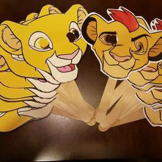Coming soon digital download of Kion and Kiara masks from the new Lion Guard!