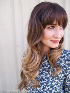 The perfect ombre hair, with perfect bangs! By Elise Rogers.
