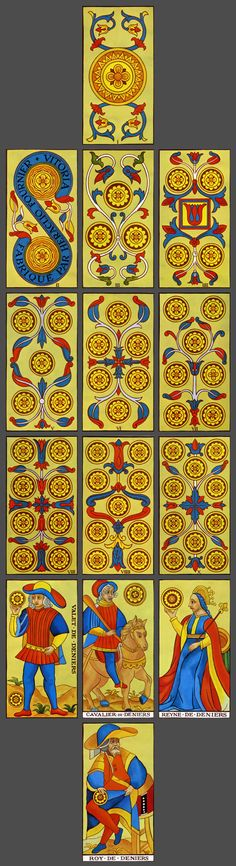Fournier Tarot de Marseille: Suit of Coins // Guler, Aymerich, 1983