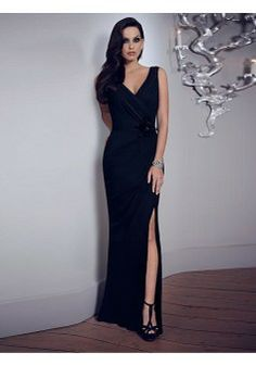 Sheath/Column V-neck Sleeveless Chiffon Black Evening Dress With Rhinestone #FN347 - See more at: http://www.victoriasdress.com/special-occasion-dresses/evening-dresses/sexy-evening-dresses.html#sthash.FylyzcTG.dpuf