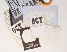 Free Journaling Cards for October | five sixteenths blog