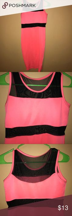 Nicki Minaj color block body con dress Great condition, has see thru parts at top . Great condition nicki minaj Dresses Midi