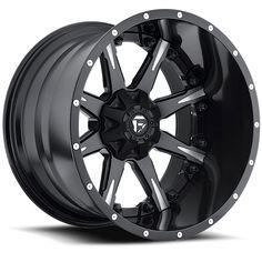 D251 - Nutz Black & Milled - Fuel Off-Road Wheels (20x9 or 20x10)