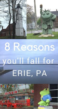There are so many more than eight reasons but hopefully these will make you fall for Erie PA and you'll add more reasons to your own list on why you need to visit again and again. Weekend Trips, Vacation Trips, Day Trips, Vacation Ideas, Beautiful Places To Travel, Cool Places To Visit, Travel Usa, Travel Tips, Travel Ideas