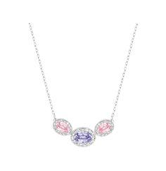 "Swarovski ""CHRISTIE"" Necklace * #Swarovski #Jewelry #Crystals #Ovals #Necklace #SpringSummer2015 #MarianaCarmona #JewelleryDesigner #2015 #Pink #Purple"