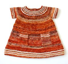Elizabethan Tunic:Yarn: Ripe Persimmon hand dyed, handspun, superwash merino/cashmere/nylon (80/10/10) yarn  Needles: US 4 (3.5 mm) circs for most of the knitting, with US 2 (2.75 mm) for some of the garter stitch.