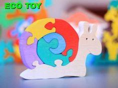 Wooden puzzle    SNAIL  Smart ECO TOY by UkrainianSouvenir on Etsy, $10.00