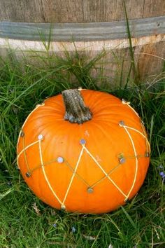 Pumpkin nailing - teaches the use of a hammer and nails