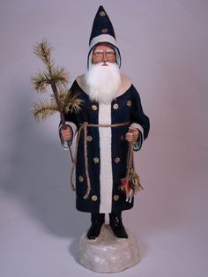 Paper mache German Santa-candy container by Paul Turner studio