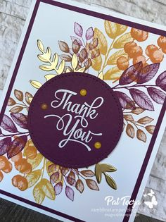 Hand Made Greeting Cards, Making Greeting Cards, Greeting Cards Handmade, Goodbye Cards, Thank You Note Cards, The Draw, Stamping Up Cards, Fall Cards, Flower Cards
