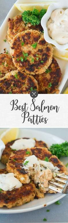 These delicious salmon patties come together quickly and easily and are perfect for easy weeknight dinners. Ready to serve in less than 20 minutes, these wonderfully seasoned fish cakes are a real treat! #salmonpatties #salmoncakes #fishcakes