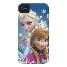 Anna and Elsa with Snowflakes iPhone 4 Cases