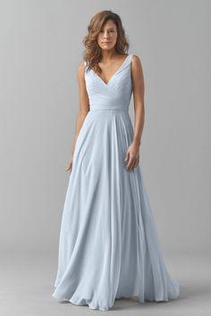 Watters Maids Dress Karen 8542I in Blue Harbor