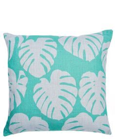 new! // philodendron leaf pillow