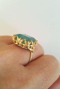 Dalben Aquamarine Gold Ring 4