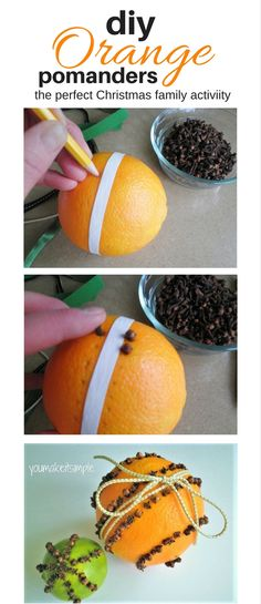 Christmas Pomanders. A great family craft