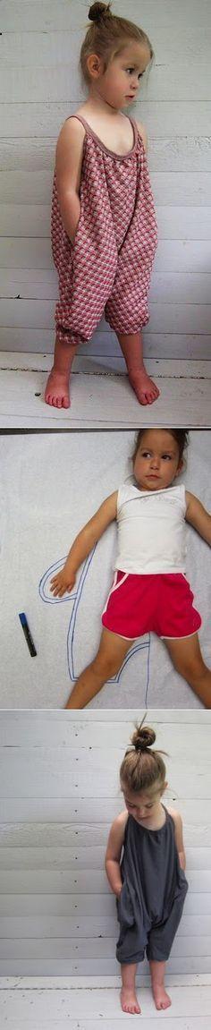 ARTESANATO COM QUIANE - Paps,Moldes,E.V.A,Feltro,Costuras,Fofuchas 3D: Momento inspiração: roupa confortável para menina, macacão