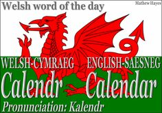 Welsh word of the day: Calendr/Calender