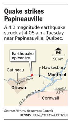 Quake strikes Papineauville