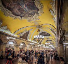 Komsomolskaya Metro Station. Moscow