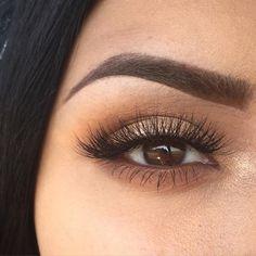 Eyebrow and eye makeup perfection