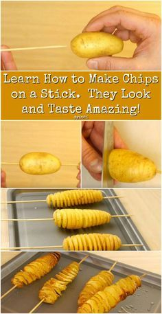 Learn How to Make Chips on a Stick. They Look and Taste Amazing! {Video}