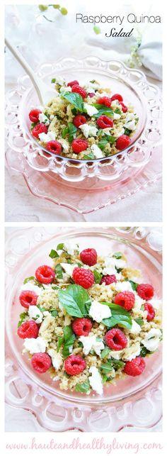 Raspberry Quinoa Salad   Haute & Healthy Living