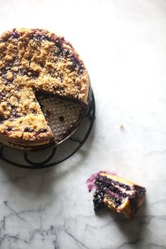 Blueberry Yeasted Coffee Cake