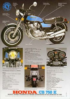 23192. - MOTORCYCLE - HONDA 1981 - CB 750K - Garantie 1 AN - 29x41-.