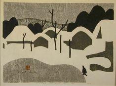 Kiyoshi Saito: Winter in Aizu (A) #print #woodblock