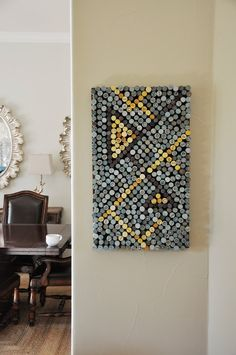 Cork Art piece using dyed wine corks || Living with Punks