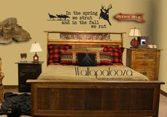 Deer and Turkey Hunter Vinyl Wall Art Decal  by WallapaloozaDecals, $38.00
