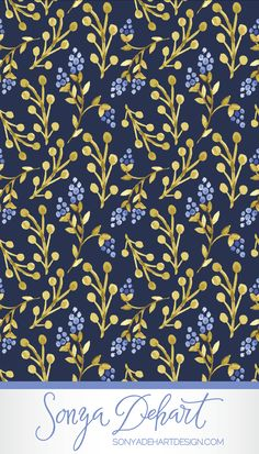 Surface and Pattern Design by Sonya DeHart - So many possibilities!  I love the cherries too.